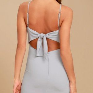 Grey Lulus Formal/ Homecoming Dress